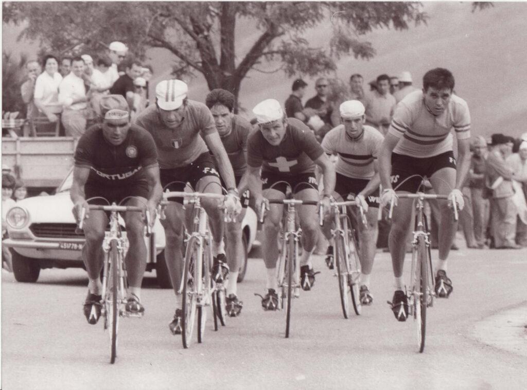 Agostinho, Adorni, Lewis, Spuhler, Van Looy, Stevens - Mondiale 1968, Imola