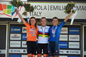 Anna van der Breggen secured both gold medals at Imola 2020 World Championships
